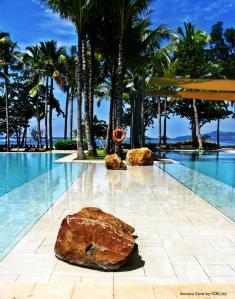 stones at pool